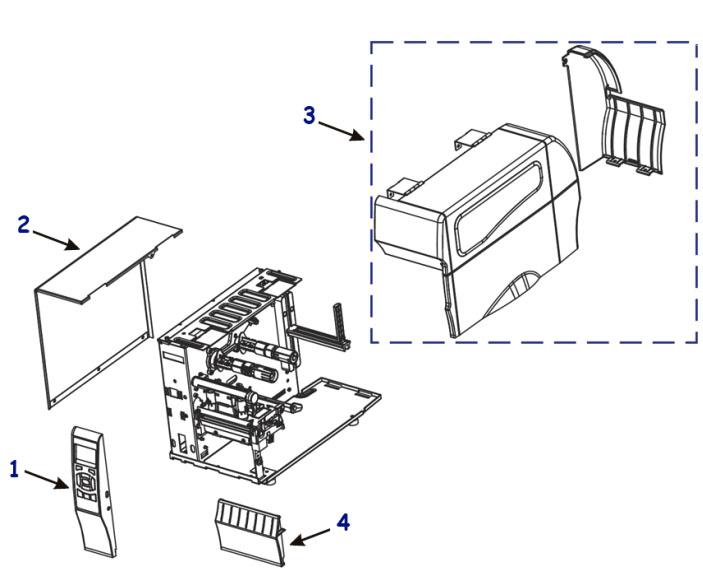 Комплектующие детали корпуса Zebra ZT210