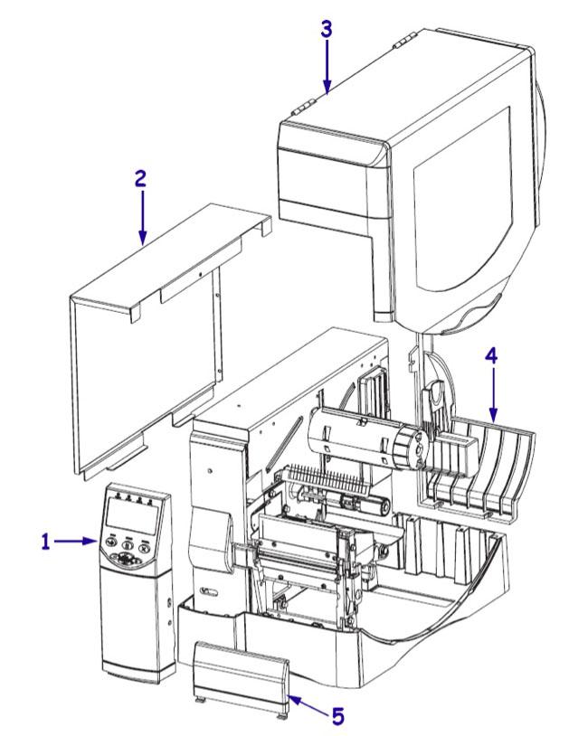 Комплектующие детали корпуса Zebra ZM400