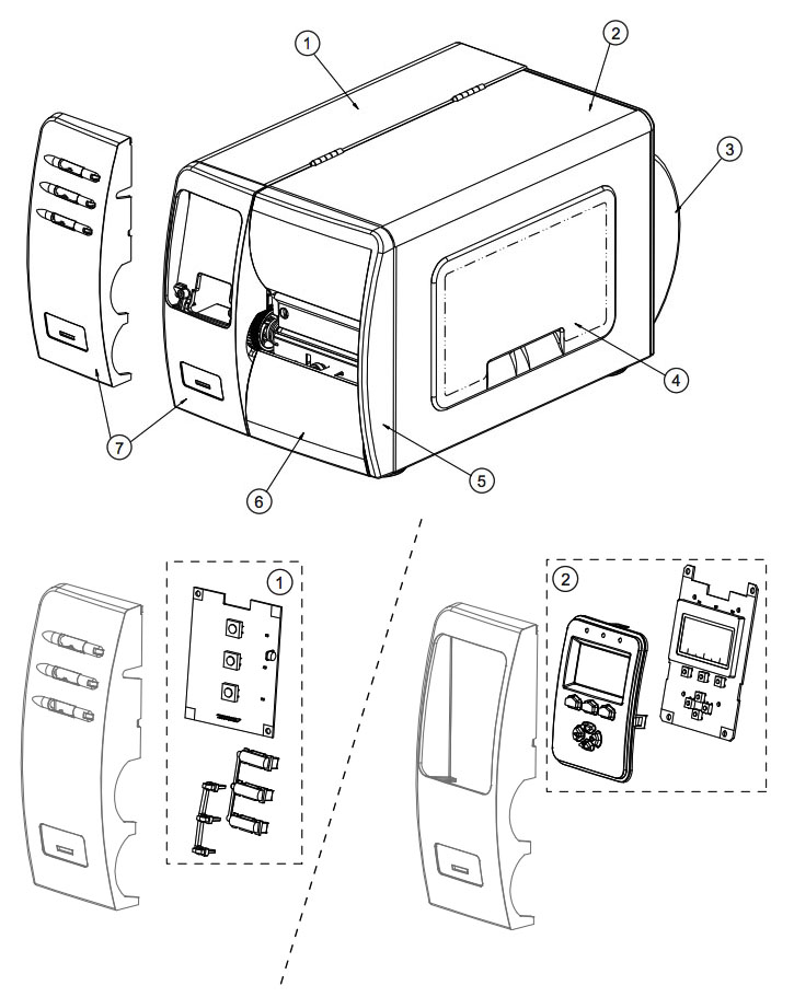 Комплектующие корпуса Datamax M-4308