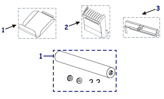 Комплектующие отрезчика и отделителя этикетки Zebra ZT410