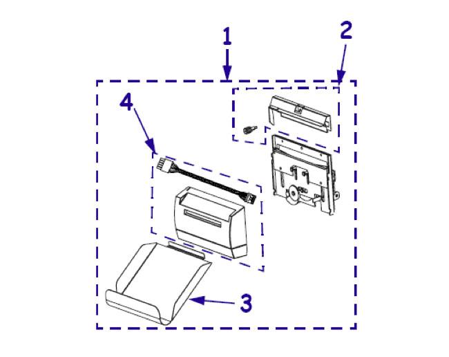 Комплектующие отрезчика (резака, ножа) для принтера Zebra ZM400