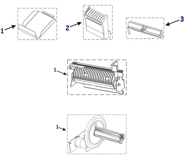 Комплектующие отрезчика, отделителя этикетки, подмотки ленты Zebra ZT230