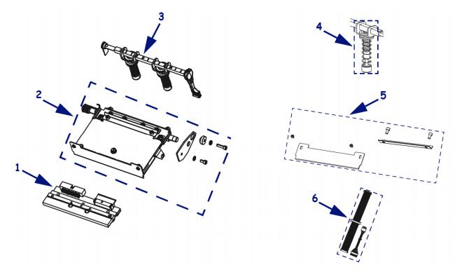 Комплектующие печатающего механизма 105sl plus