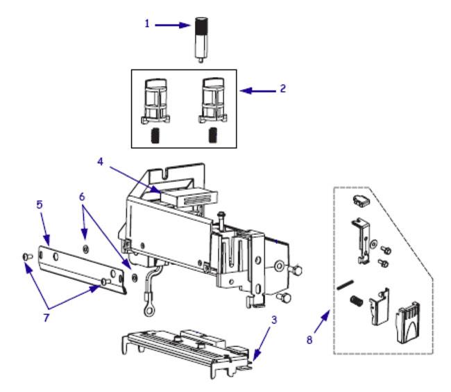 Комплектующие печатающего механизма Zebra S4M