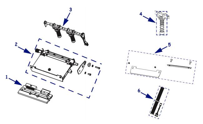 Комплектующие печатающего механизма Zebra xi4