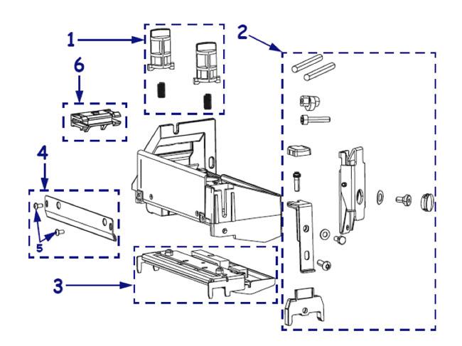 Комплектующие печатающего механизма принтера Zebra ZM600