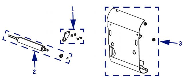 Компоненты подмотки этикетки для термопринтера Zebra 105SL Plus