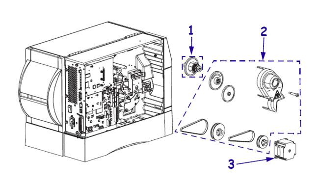 Комплектующие привода для принтера Zebra ZM600