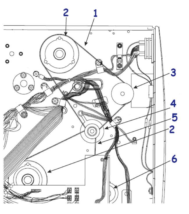 Комплектующие привода для термопринтера Zebra 170 XiIII Plus