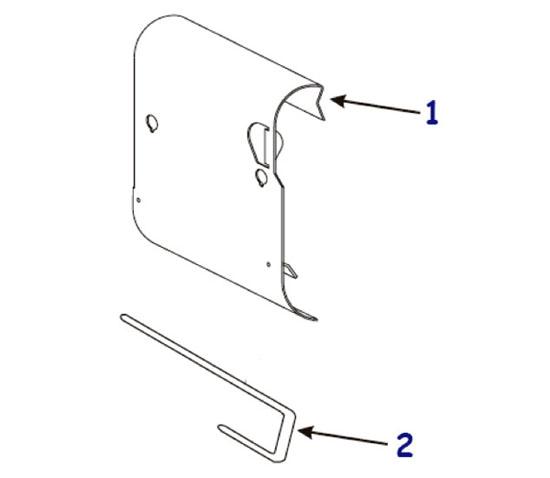 Компоненты подмотки этикетки для термопринтера Zebra 140 XiIII Plus