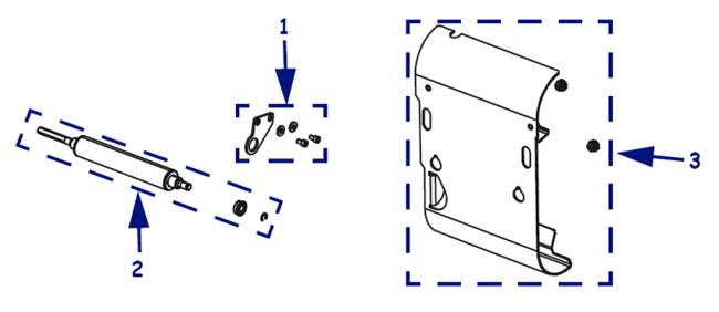 Компоненты подмотки этикетки для термопринтера Zebra Xi4