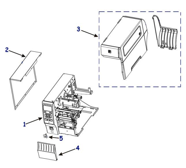 Детали корпуса Zebra ZT400