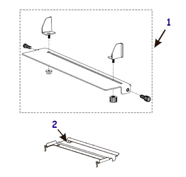Направляющие и отделители этикетки для принтера Zebra 105SL