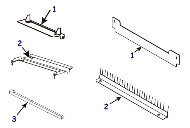 Направляющие и отделители этикетки и риббона для принтера Zebra 110XiIII Plus