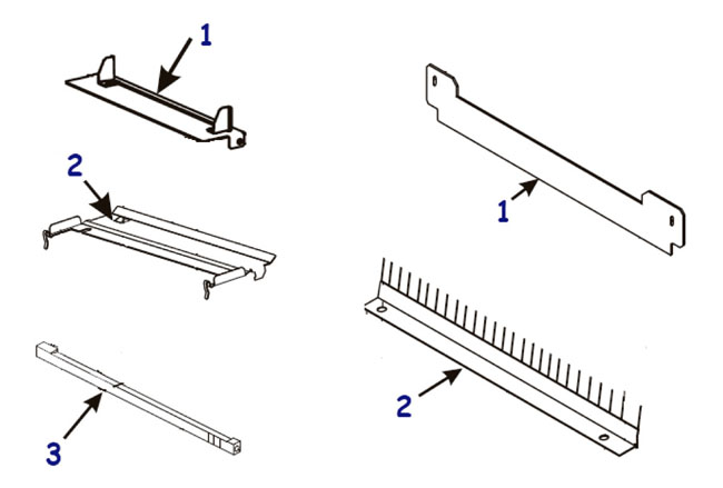 Направляющие и отделители этикетки и риббона для принтера Zebra 170 XiIII Plus