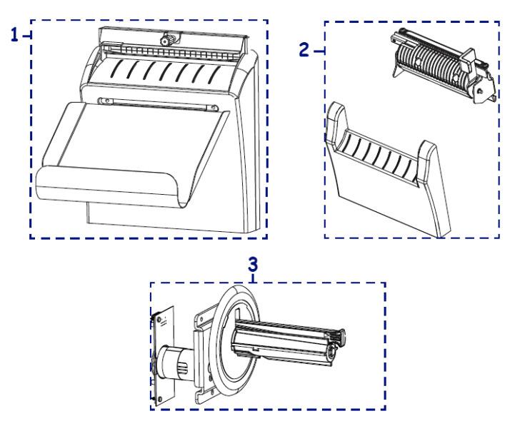 Отрезчик, отделитель этикетки, шпиндель подмотки ленты Zebra ZT410