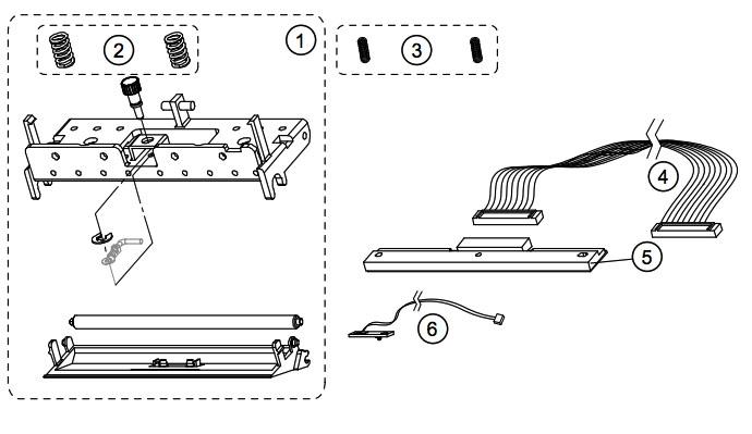 Печатающая головка принтера этикеток Datamax E-4204 Mark III