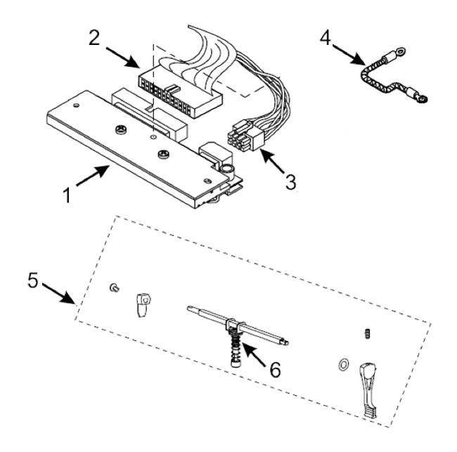 Печатающие термоголовки и сопутствующие запчасти для термопринтера Zebra 105SL