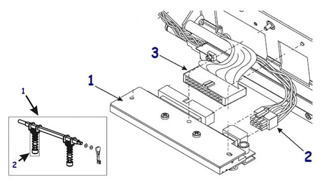 Печатающие термоголовки и сопутствующие запчасти для термопринтера Zebra 220 XiIII Plus
