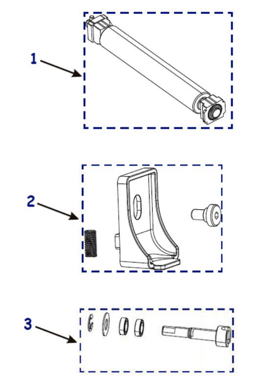 Резиновые ролики для принтера Zebra ZT410