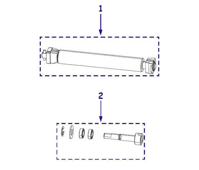 Резиновые ролики для принтера Zebra ZM600