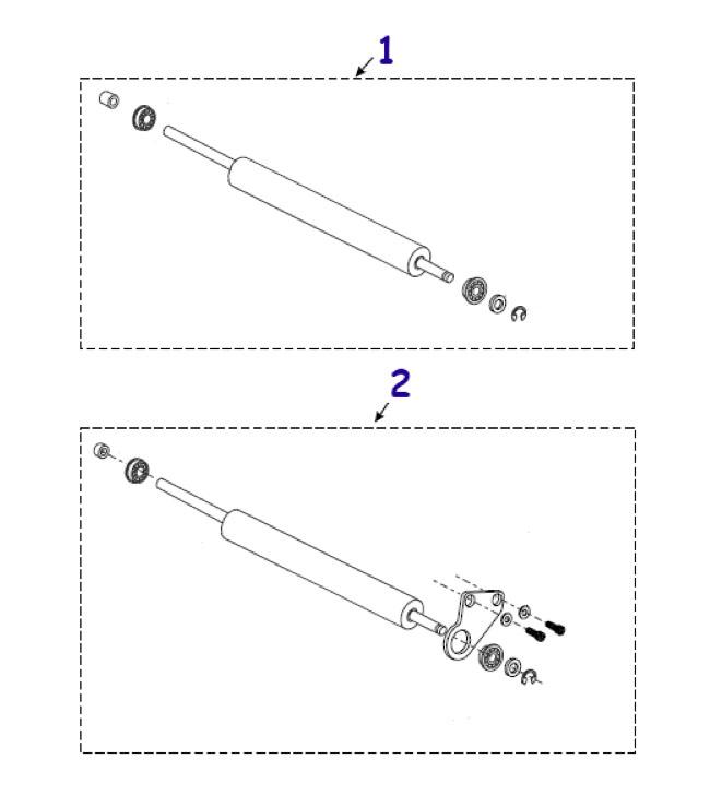 Резиновые ролики для термопринтера Zebra 105SL