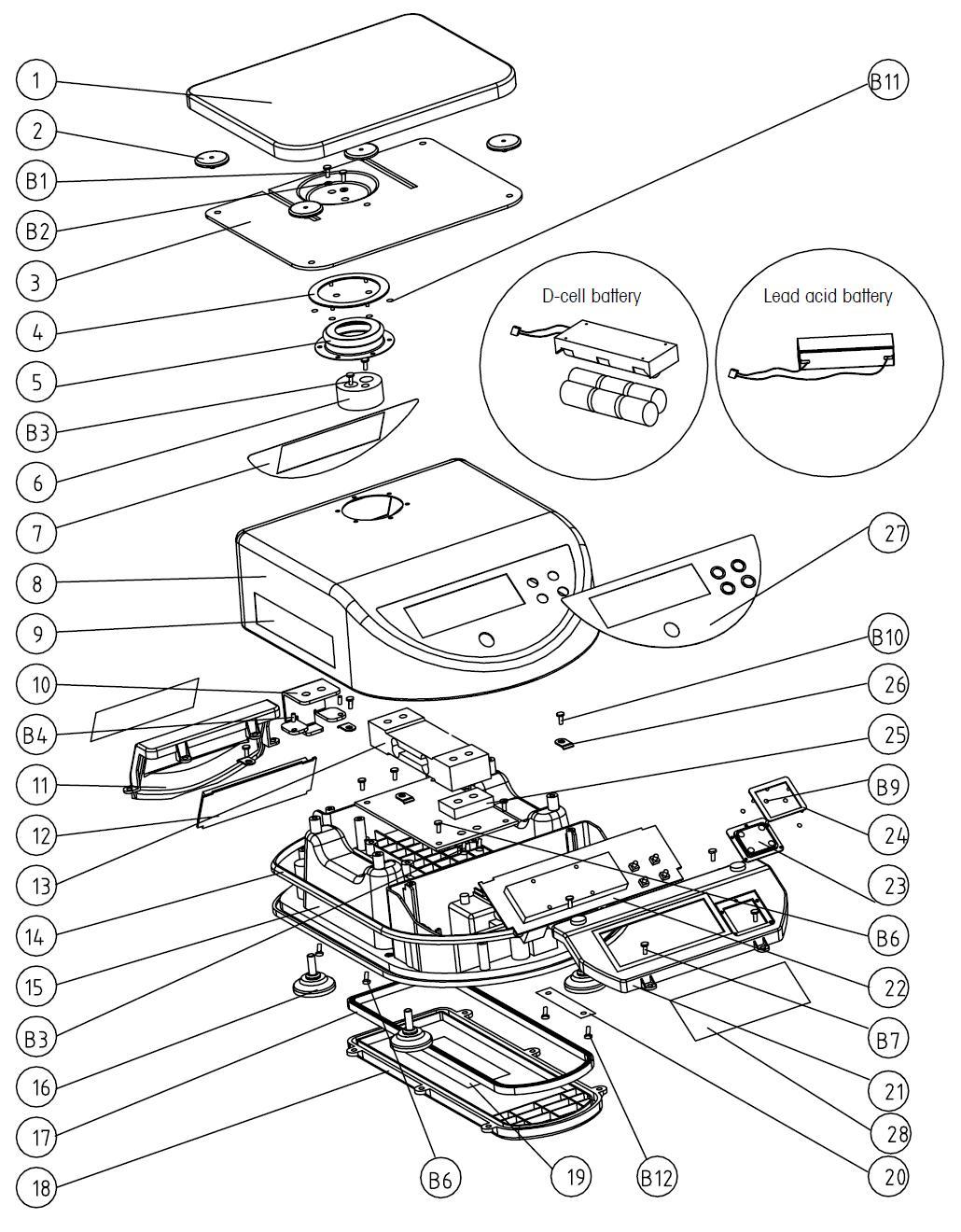 Комплектующие запчасти для весов Меттле Толедо Куб II