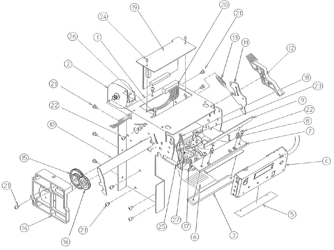 ЗИП и комплектующие термопринтера Citizen PPU 700 II