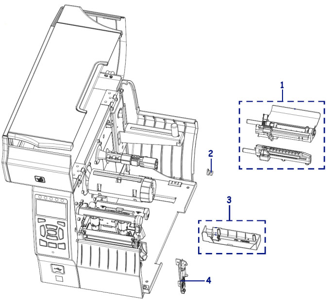 Датчики zebra ZT410