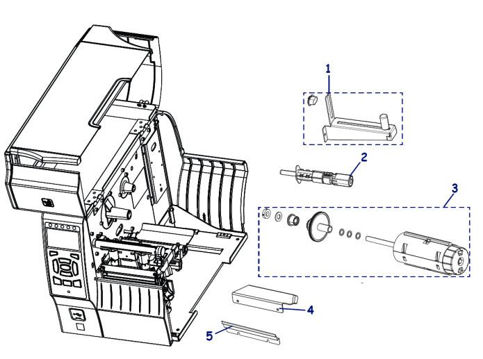 Валы риббона и этикетки для принтера Zebra ZT410