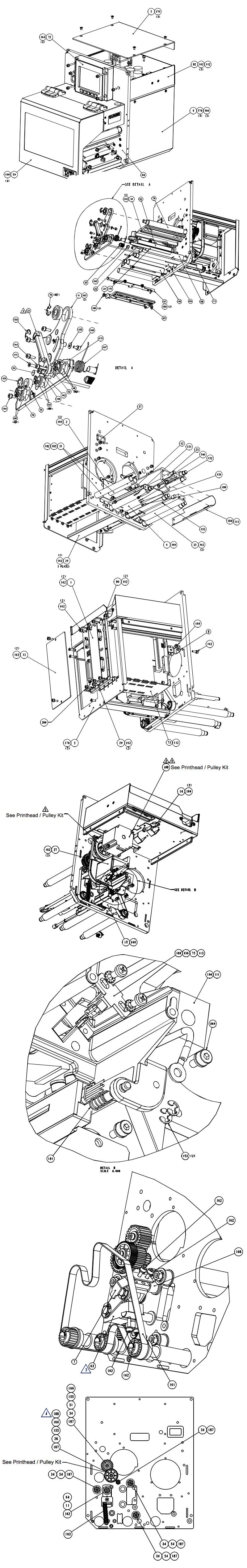 комплектующие печатающего механизма datamax a-class