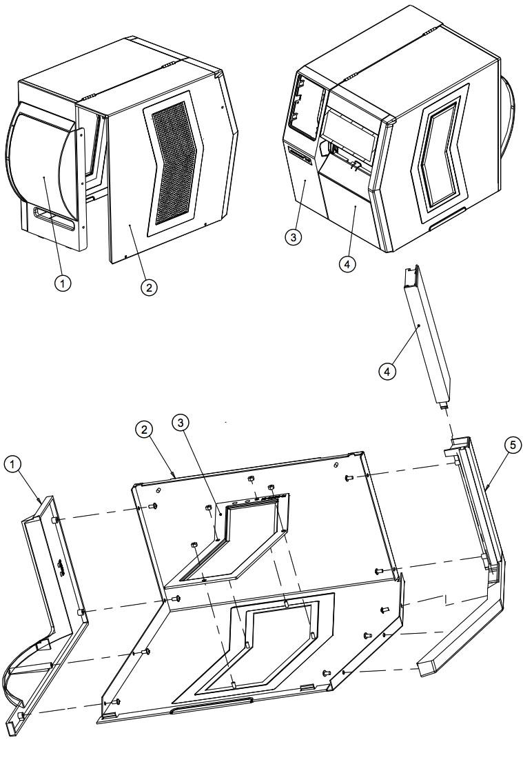 комплектующие расширенного корпуса для принтера Datamax HX