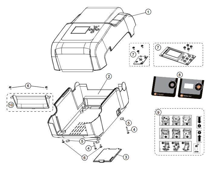 Комплектующие корпуса datamax 4304