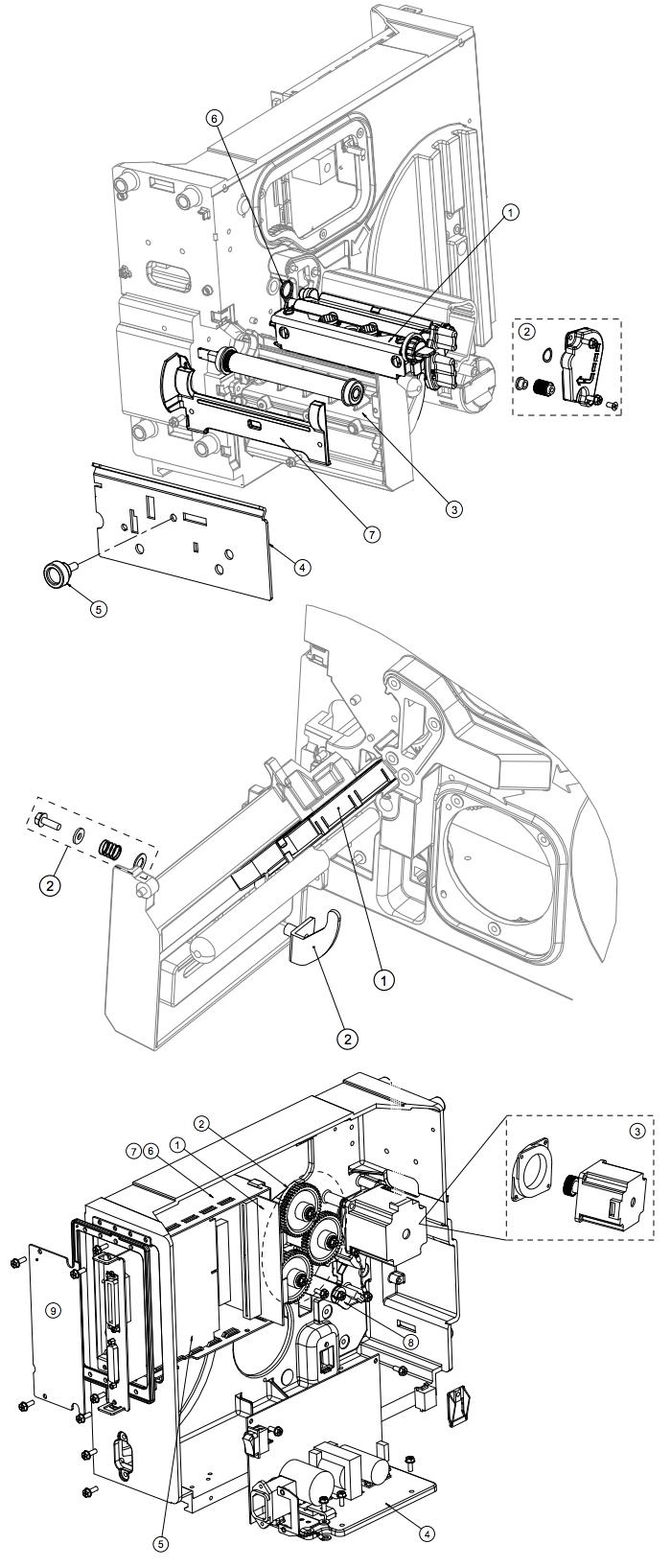 механизм принтера Datamax I-class