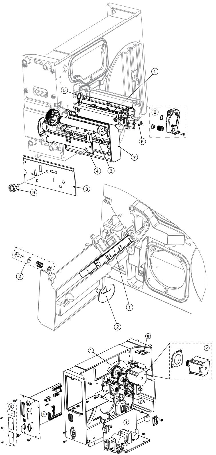 механизм принтера i-class mark ii