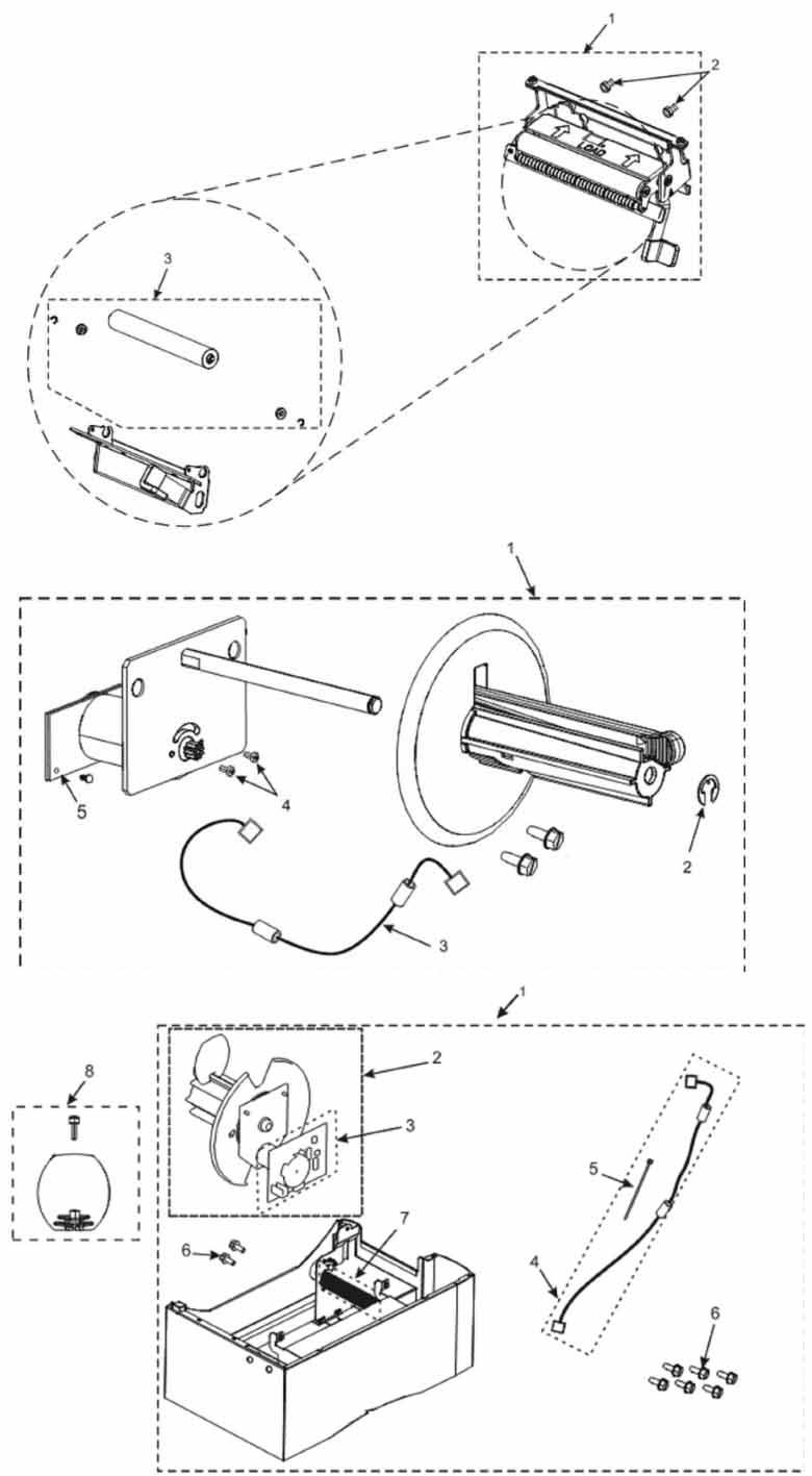 Отделитель этикетки и подмотка ленты Зебра