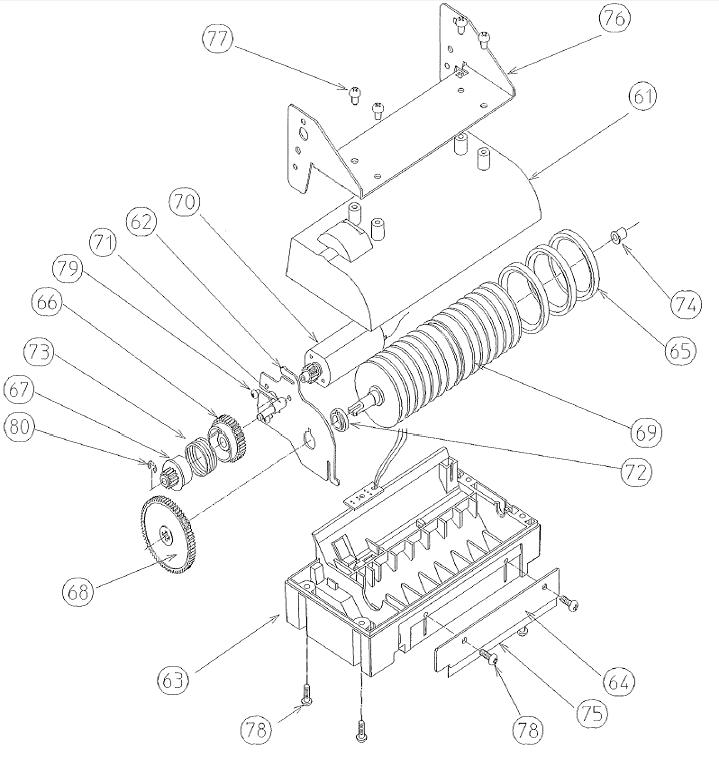 ЗИП механизма главного ролика термопринтера Citizen PPU-700II