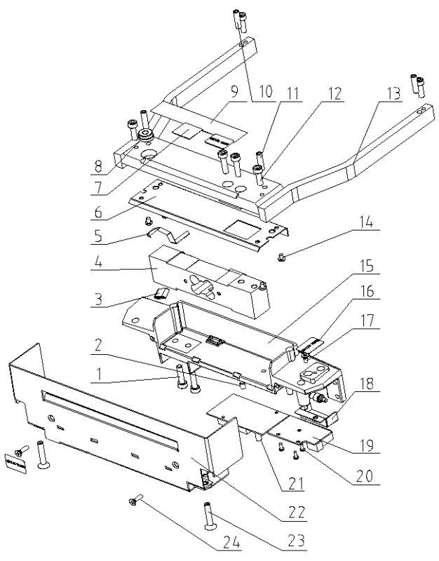 Весовой модуль весов Меттлер Толедо Diva M102/M112/M122