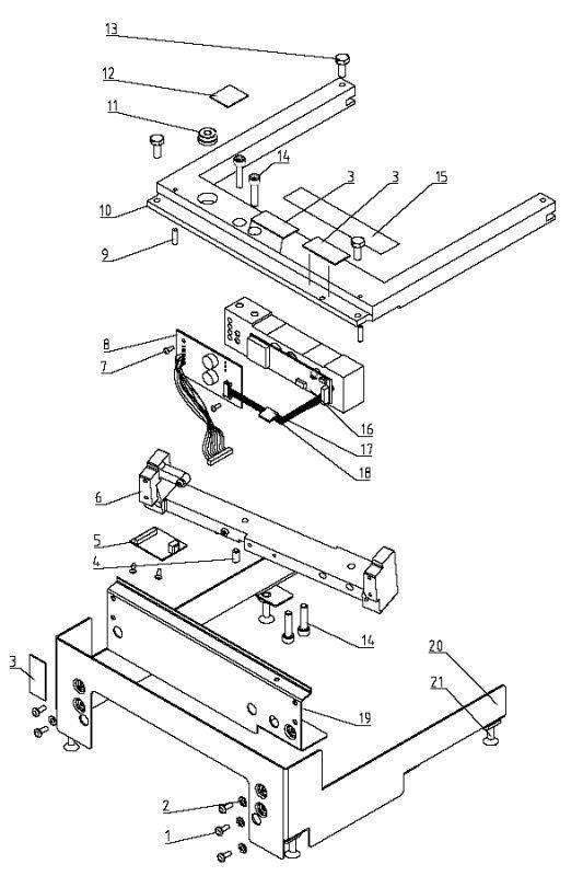 Весовой модуль Меттлер Толедо Diva P102/P112/P122