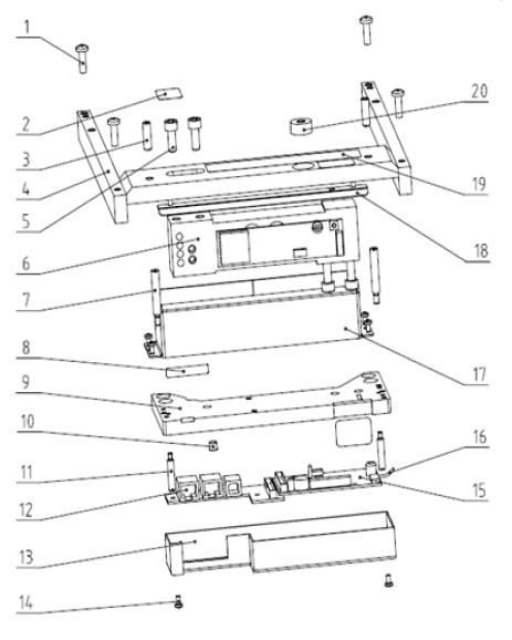 Весовой модуль весов Меттлер Толедо Diva P502/P512/P522