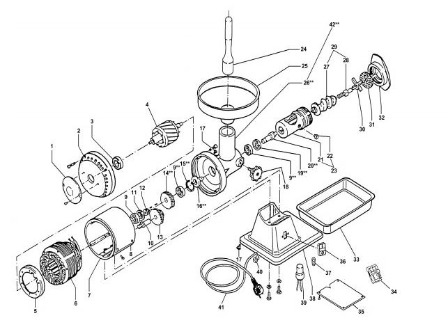 Взрыв-схема Fimar 12 s, деталировка Fimar 12 s