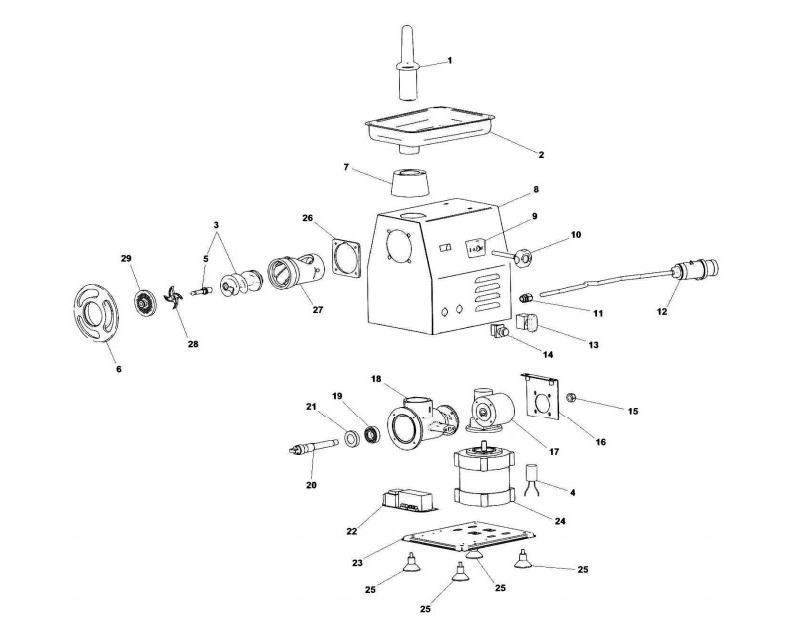 Взрыв-схема Fimar 22/RS, деталировка Fimar 22/RS