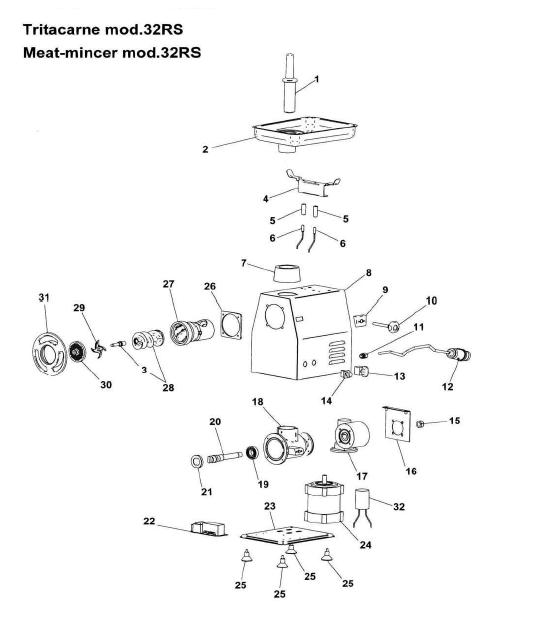 Взрыв-схема (деталировка) Fimar 32 RS