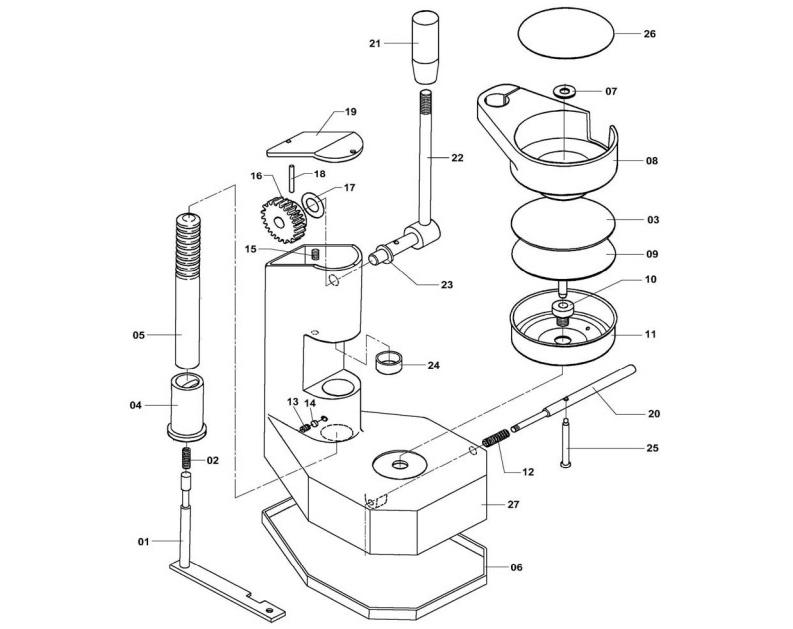 Взрыв-схема Fimar F/10, деталировка Fimar F/10