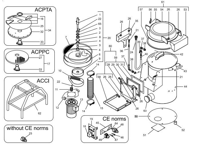 Взрыв-схема Fimar PPN/5, деталировка Fimar PPN/5