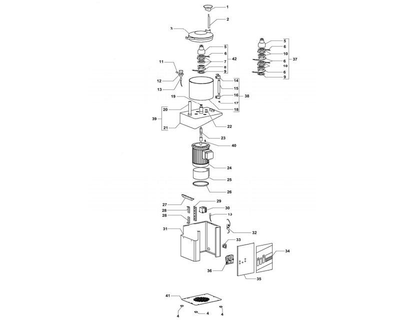 Взрыв-схема Fimar CL/3M, деталировка Fimar CL/3M