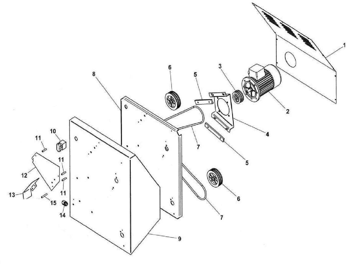 Взрыв-схема Fimar FI/42, деталировка Fimar FI/42