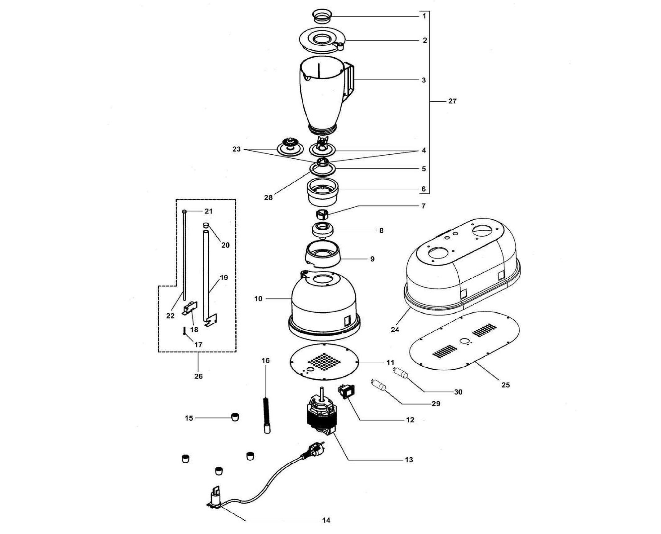 Взрыв-схема Fimar FRI/150, деталировка Fimar  FRI/150