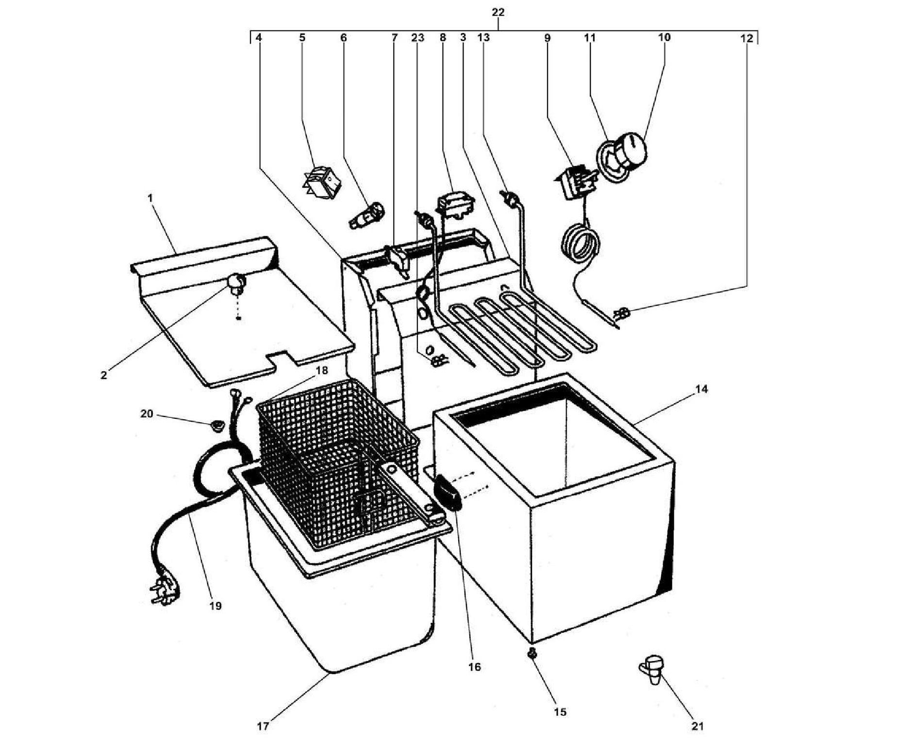 Взрыв-схема Fimar FT4, деталировка Fimar FT4