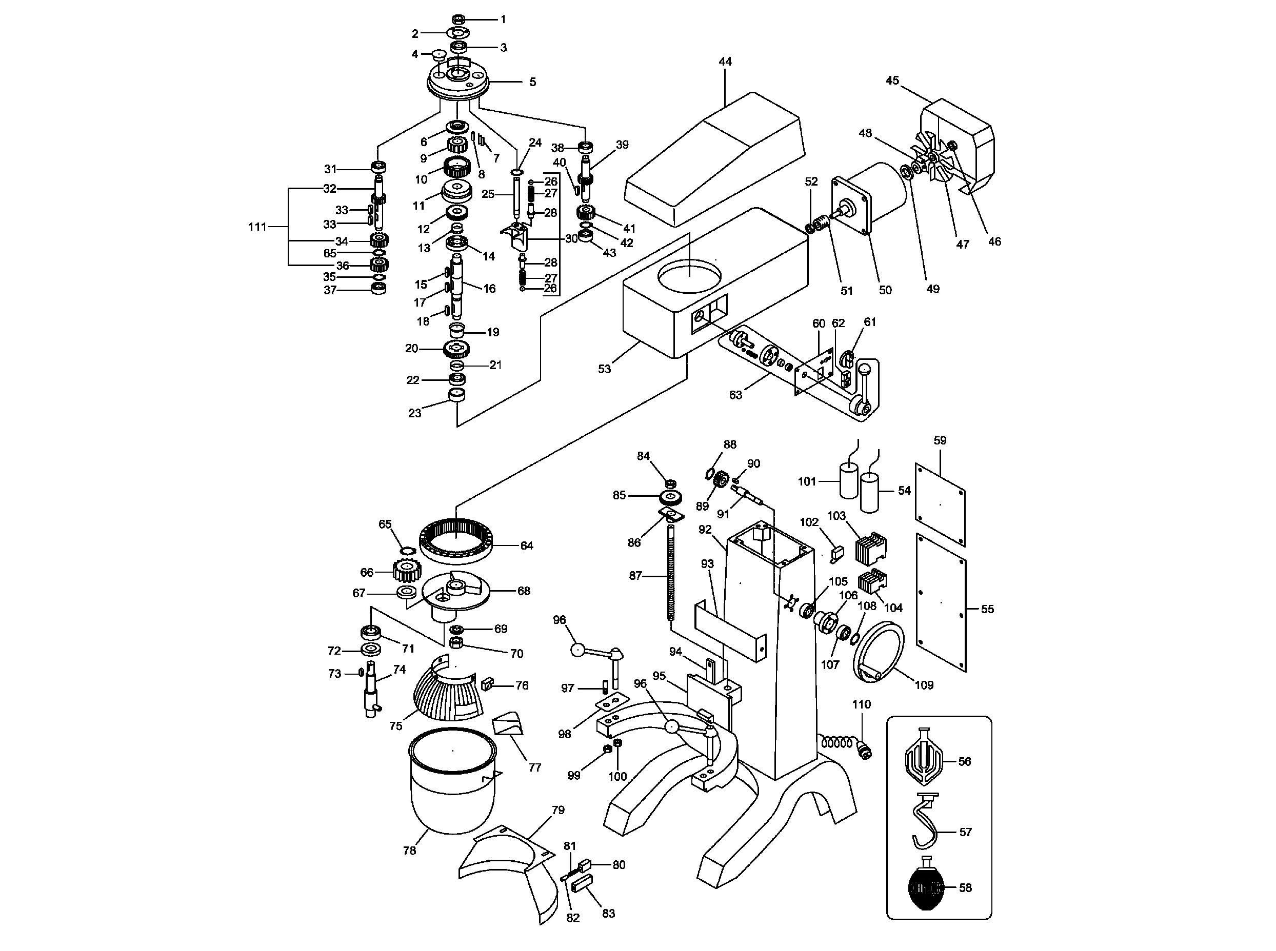Взрыв-схема Fimar IP/40F, деталировка Fimar IP/40F
